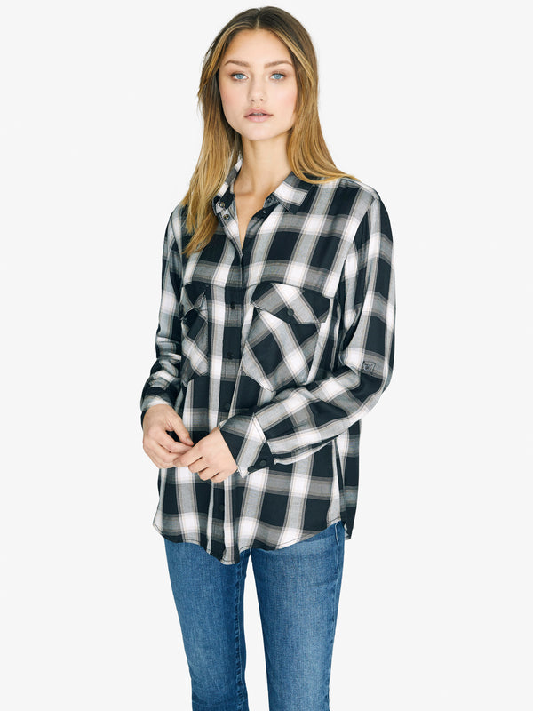 New Generation Boyfriend Shirt Be Real Plaid