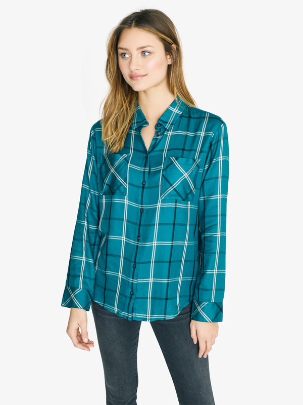 New Generation Boyfriend Shirt Mineral Plaid