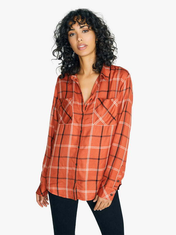 New Generation Boyfriend Shirt New Earth Plaid