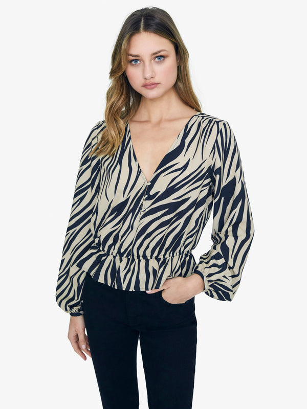 All Nighter Zebra Blouse