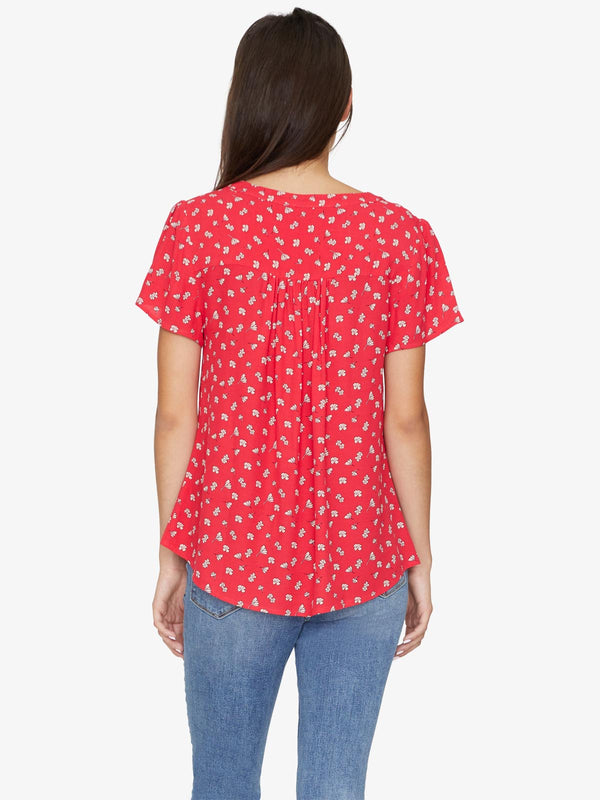 Mia Shell Top Wildflower Red