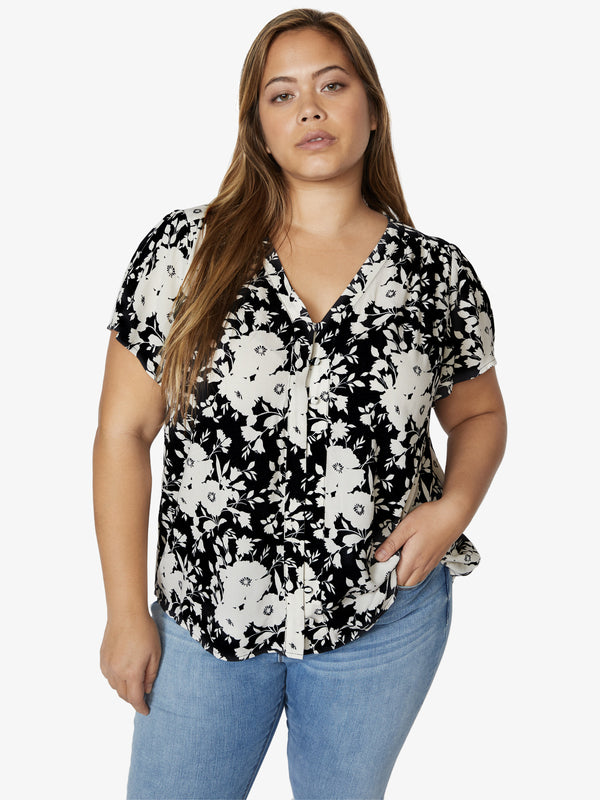 Mia Shell Top Shadow Bloom Inclusive Collection