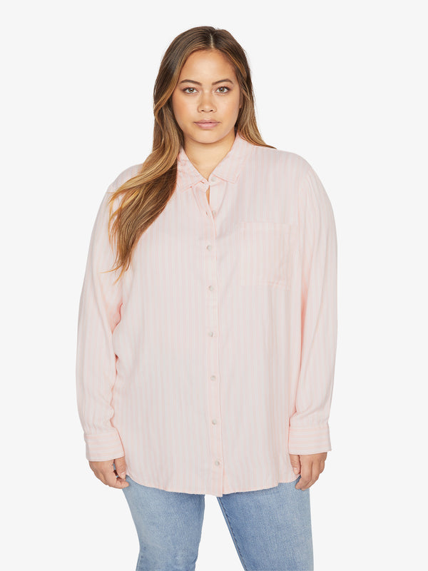 Keepers Boyfriend Shirt Pink Air Stripe Inclusive Collection