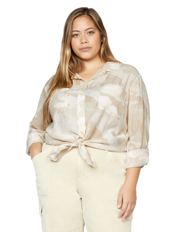 Waverly Boyfriend Shirt Sand Dune Camo Inclusive Collection