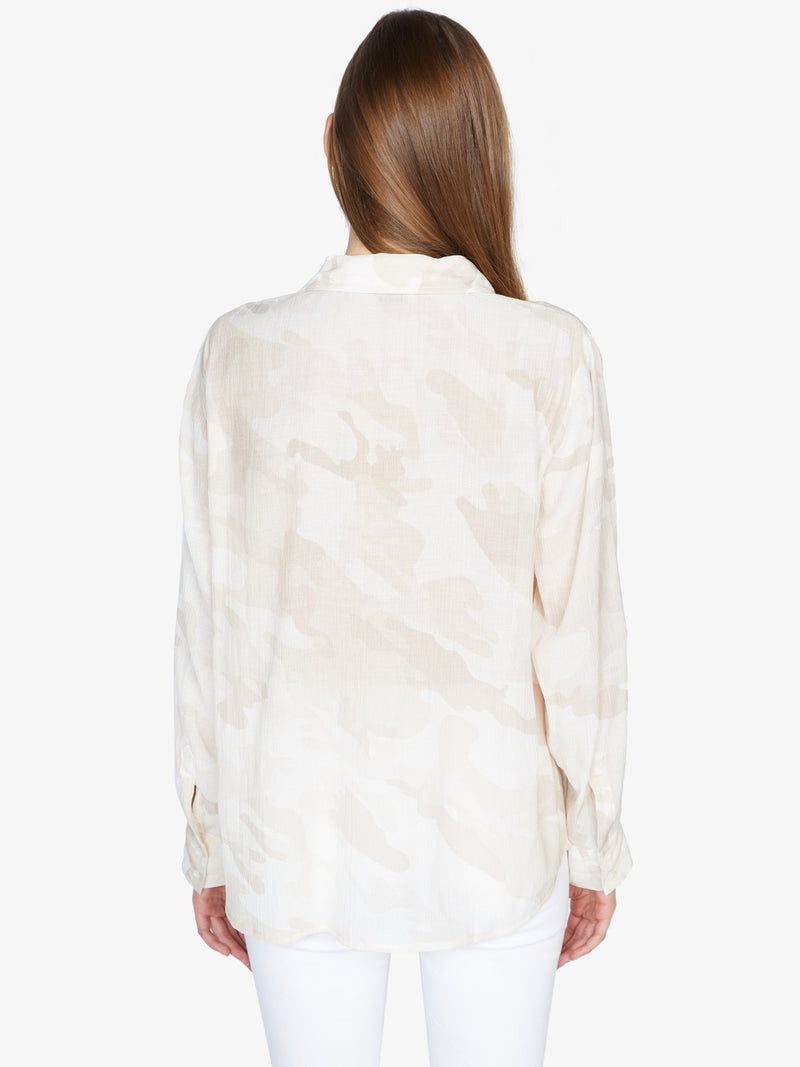 Waverly Boyfriend Shirt Sand Dune Camo