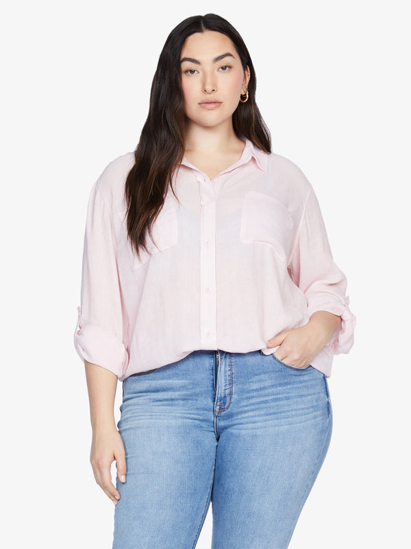 Waverly Boyfriend Shirt Pink Air Inclusive Collection