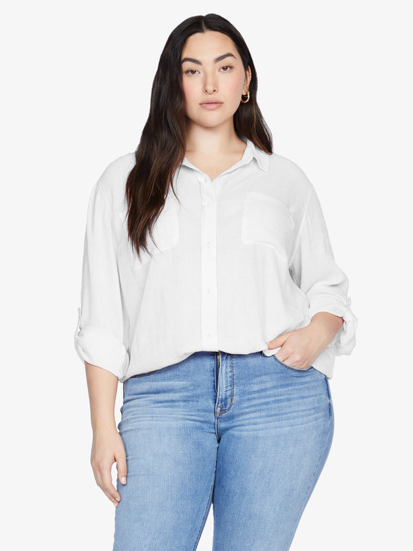 Waverly Boyfriend Shirt White Jasmine Inclusive Collection