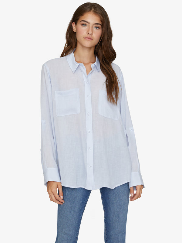 Waverly Boyfriend Shirt Seafoam