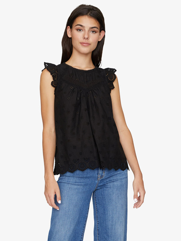 Ariana Heirloom Shell Top Black