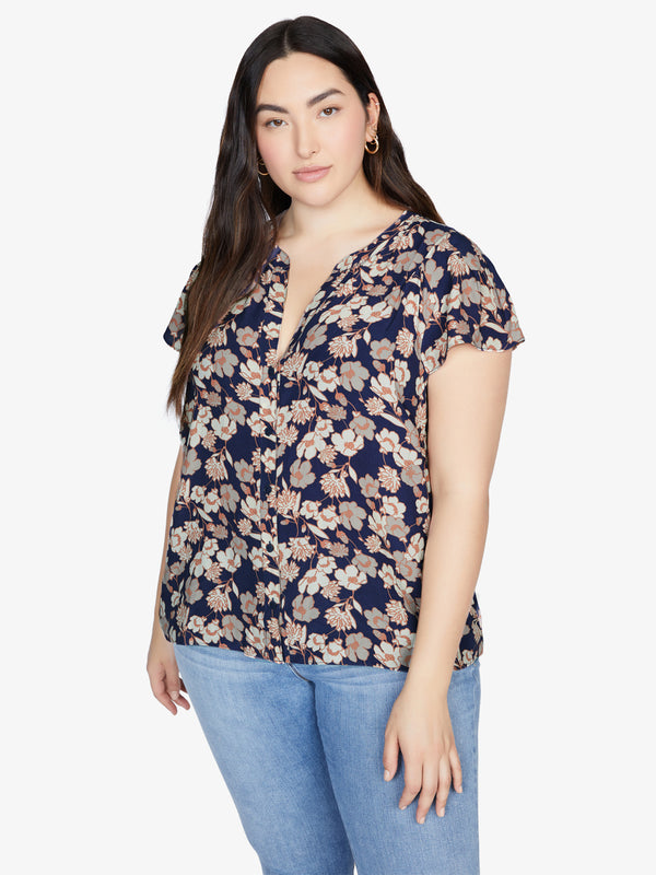 Tiffany Shell Top Stencil Floral Inclusive Collection