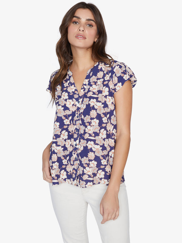 Tiffany Shell Top Stencil Floral