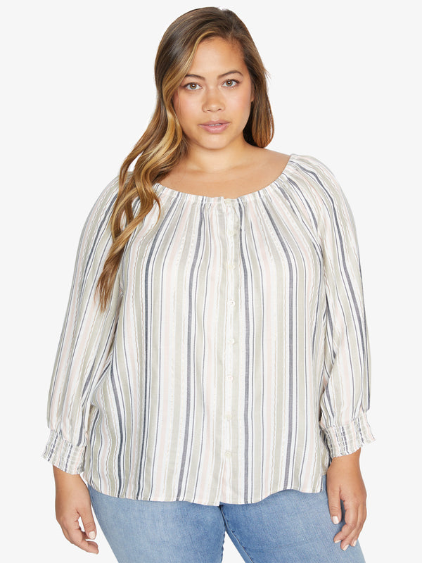 Blue Water Blouse Harmony Stripe Inclusive Collection