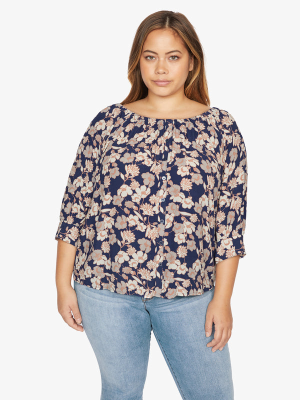 Enchanted Blouse Stencil Floral Inclusive Collection