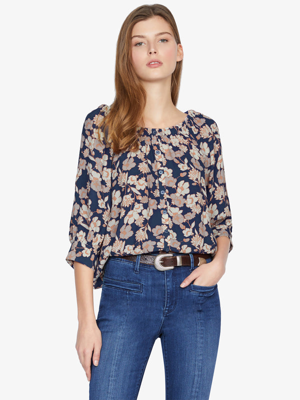 Enchanted Blouse Stencil Floral