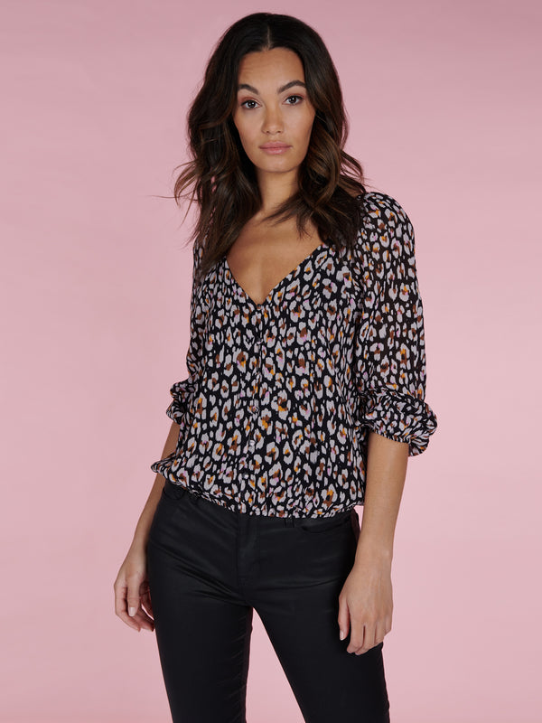 Meadow Blouse Wild Leo