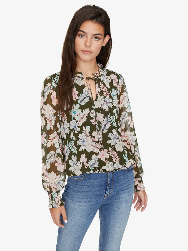 Love In Bloom Blouse Mini Tropic Punch