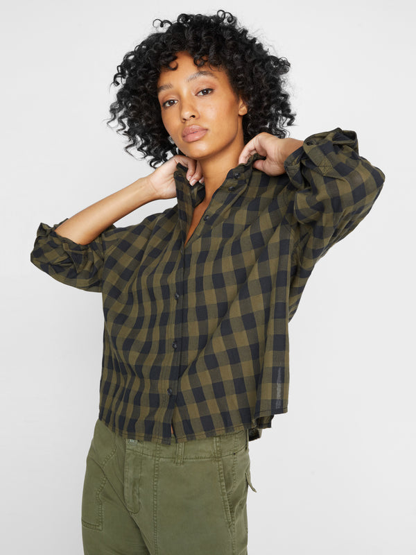 All About The Ruffle Shirt Tonal Check
