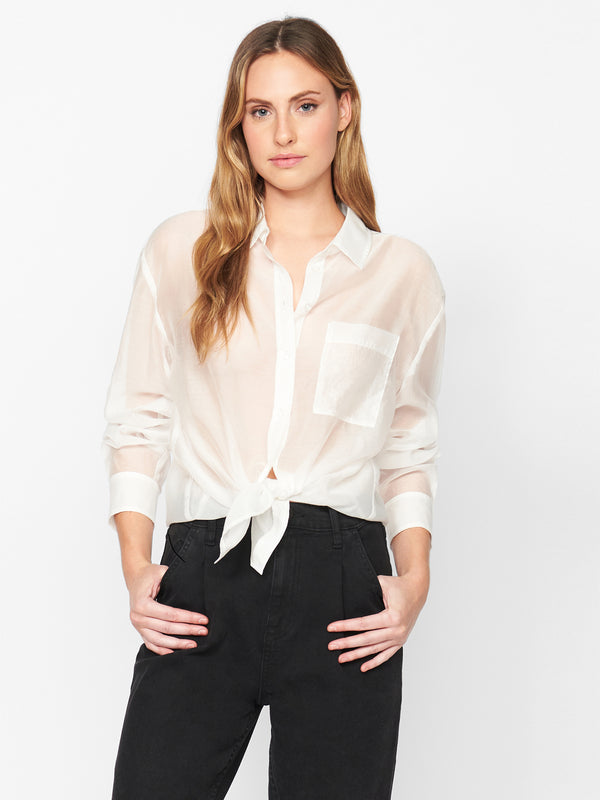 Sheer Bliss Button Down Milk