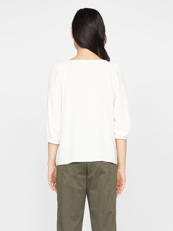 Modern Button Front Top Milk