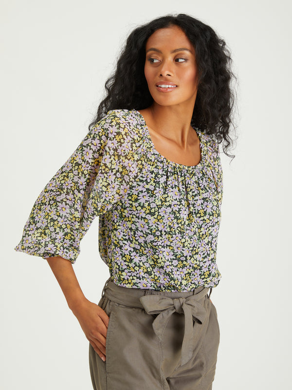 Sunshine Top Garden Valley - GARDEN VALLEY / XXS - Woven Top