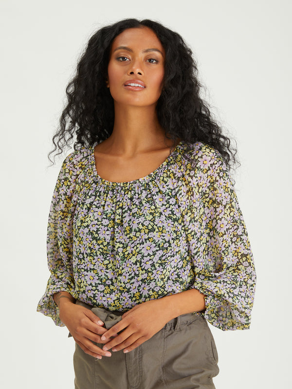 Sunshine Top Garden Valley - Woven Top