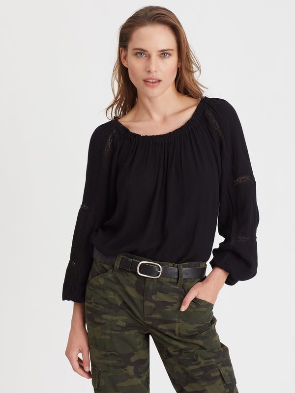 Say So Blouse Black - Woven Top