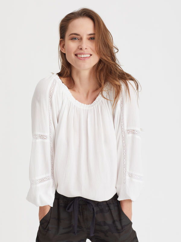 Say So Blouse White - Woven Top