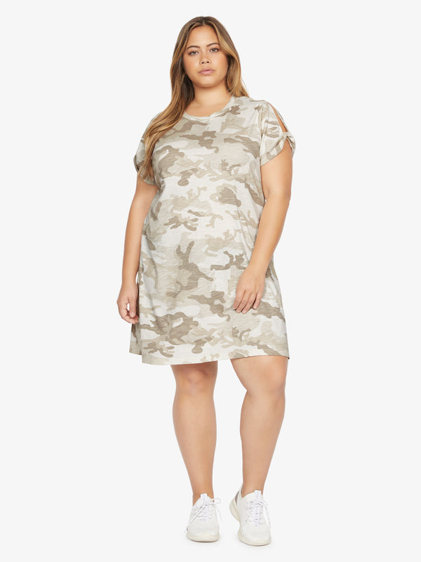 So Twisted T-Shirt Dress Sand Dune Camo  Inclusive Collection