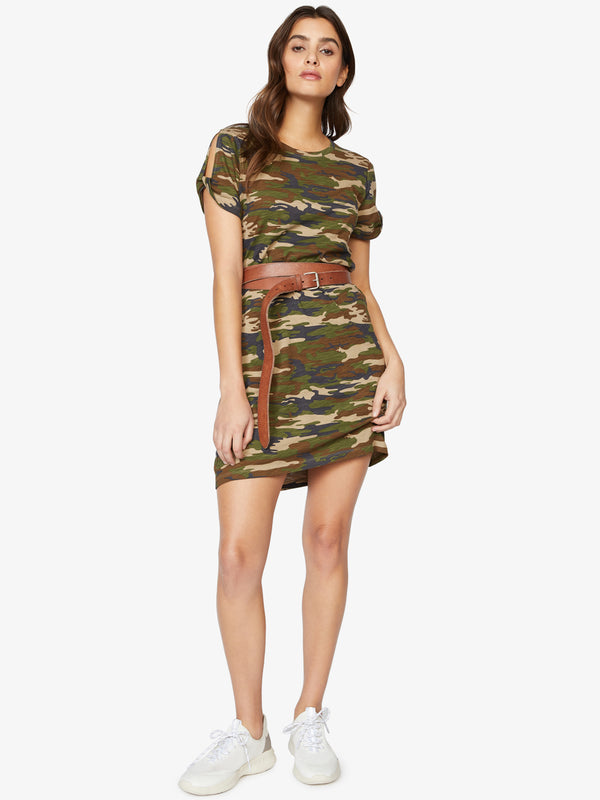 So Twisted T-Shirt Dress Little Hero Camo