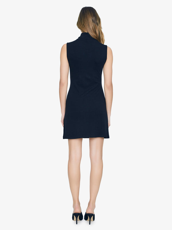 Essential Sleeveless Mock Dress Black