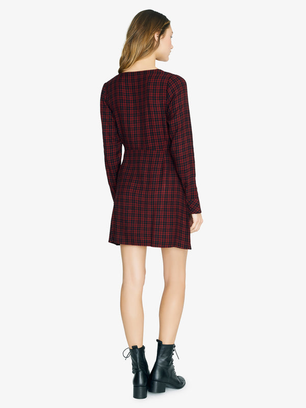 Upbeat Wrap Dress New Generation Plaid