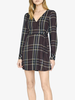 Upbeat Wrap Dress New Romantic Plaid