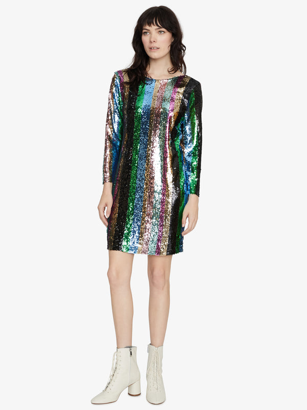 Over The Rainbow Sequin Mini Dress Rainbow Sequin