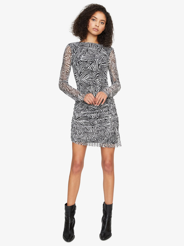 Let'S Party Mesh Dress Black Zebra