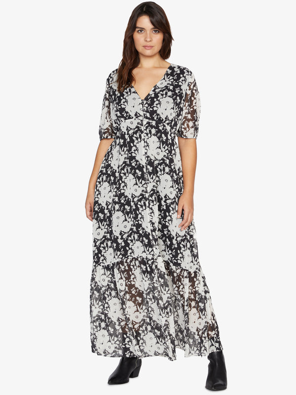 Florence Maxi Dress Shadow Bloom Inclusive Collection