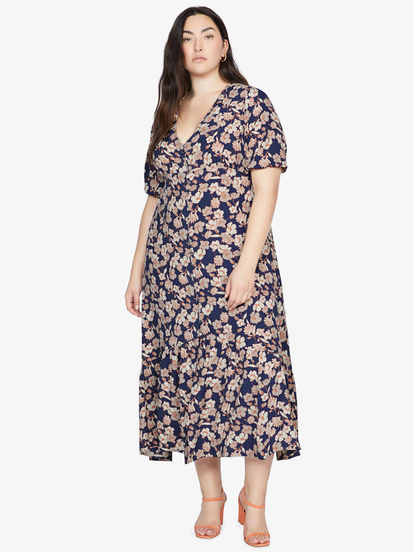 Florence Maxi Dress Stencil Floral Inclusive Collection