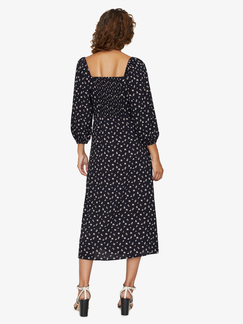 Lindsey Square Neck Dress Wildflower Black