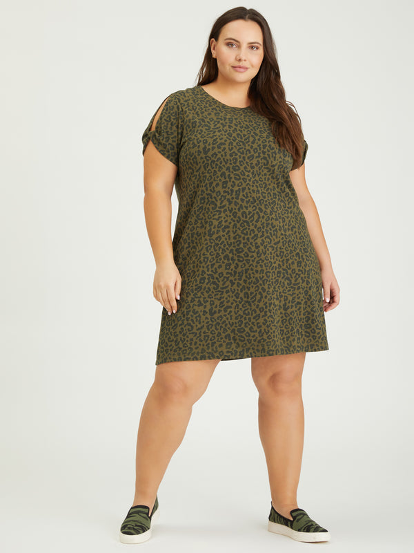 So Twisted T-Shirt Dress Camo Leo Inclusive Collection -