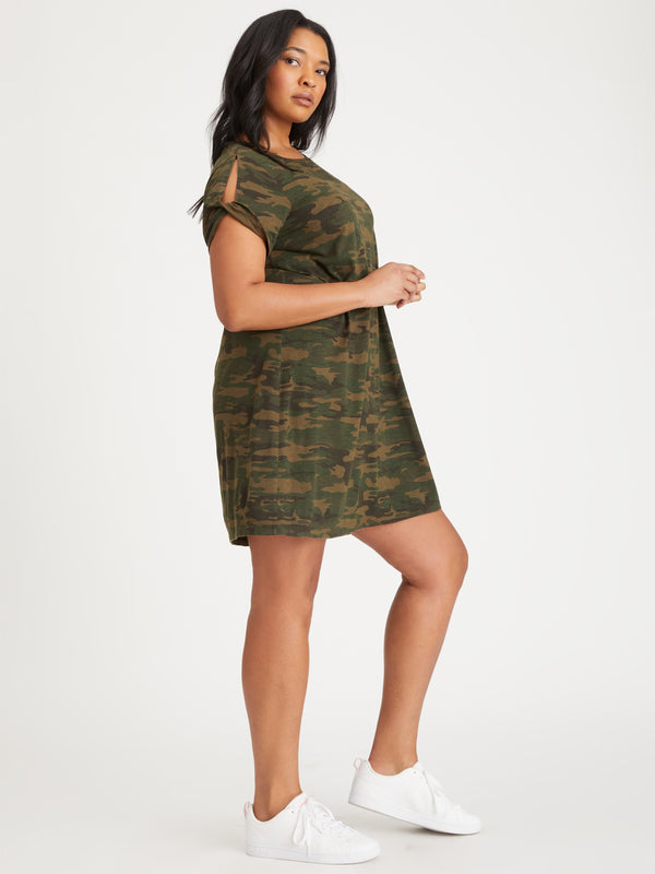 So Twisted T-Shirt Dress Mother Nature Camo Inclusive Collection