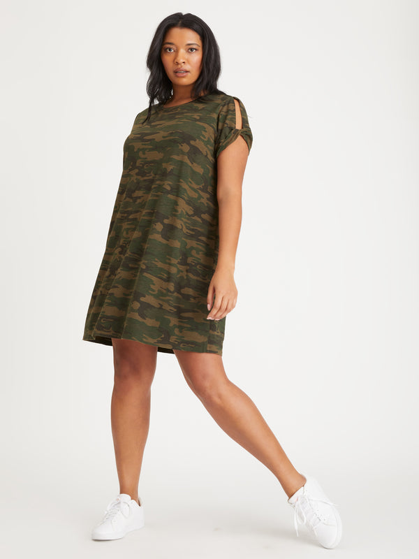 So Twisted T-Shirt Dress Mother Nature Camo Inclusive