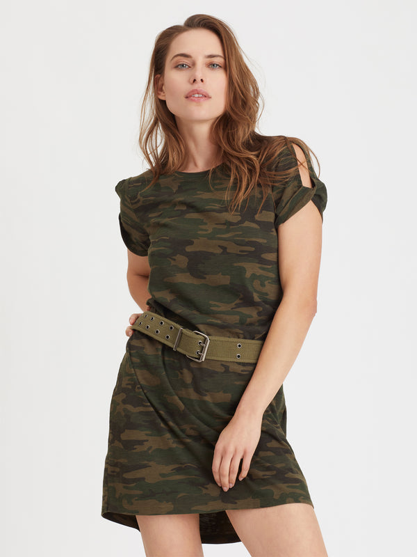 So Twisted T-Shirt Dress Mother Nature Camo