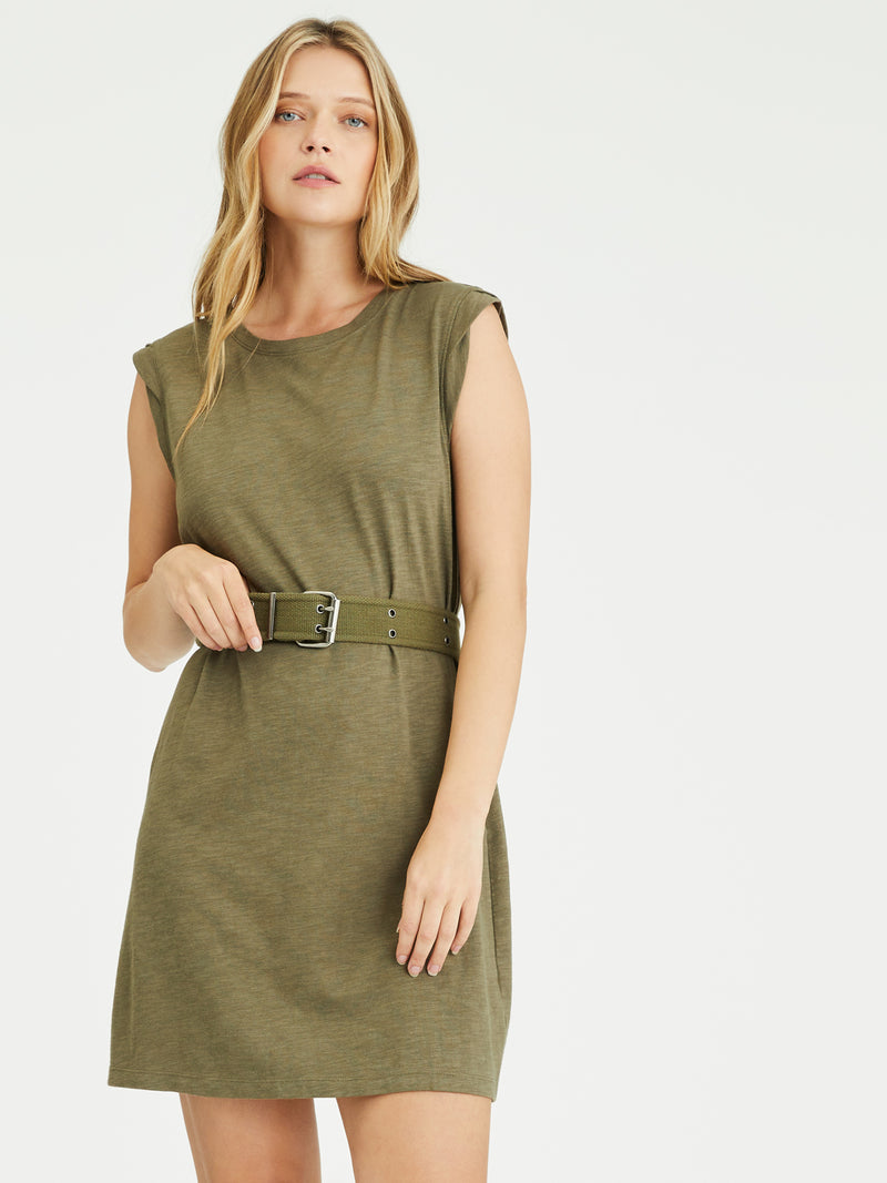 Easy Way Knit Dress Organic Green