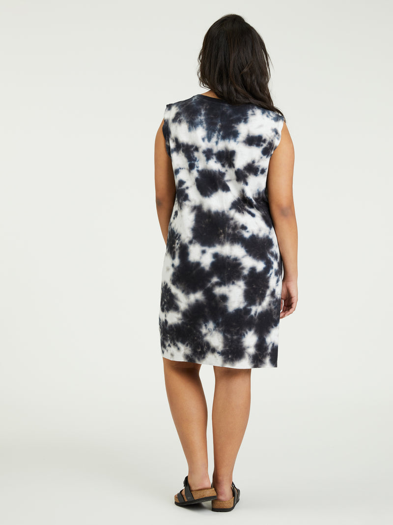 Easy Way Dress Black Sand Tie Dye Inclusive Collection -