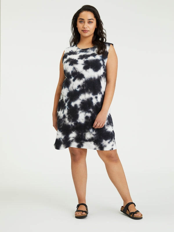 Easy Way Dress Black Sand Tie Dye Inclusive Collection