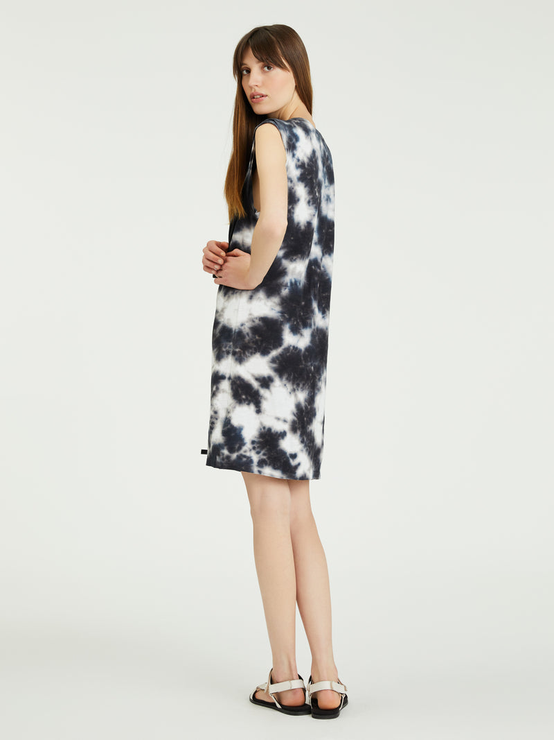 Easy Way Dress Black Sand Tie Dye - Dress