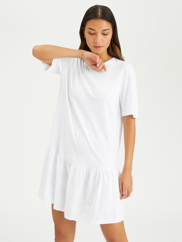 Refresh T-Shirt Dress White