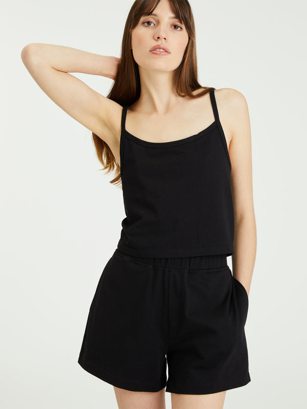Essential Knit Short Black