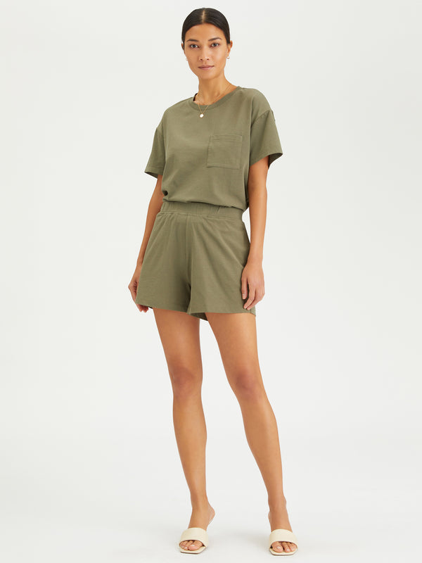 Essential Knit Short Organic Green