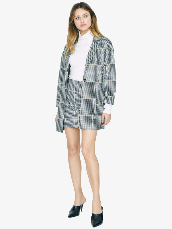 City Coat Blazer Citrine Plaid