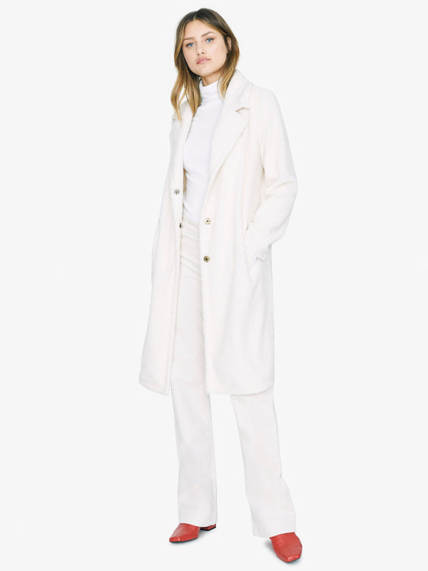 Go Long Teddy Coat Moonstone